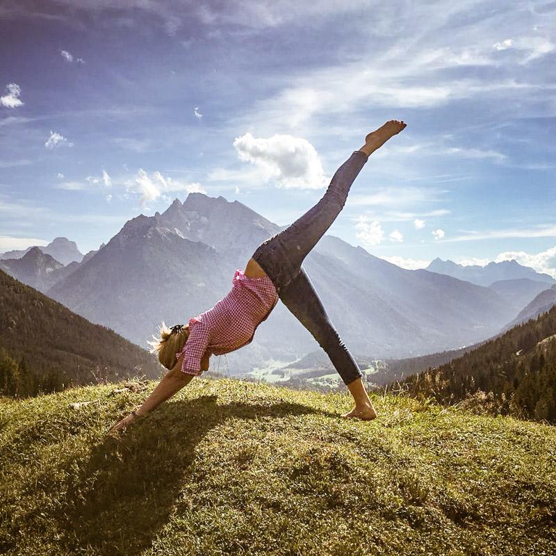 Anna Helminger, Yoga in Waging und Berchtesgaden
